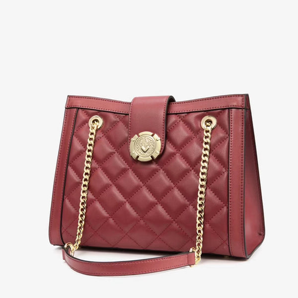 Jacqueline Quilted Leather Tote Bag