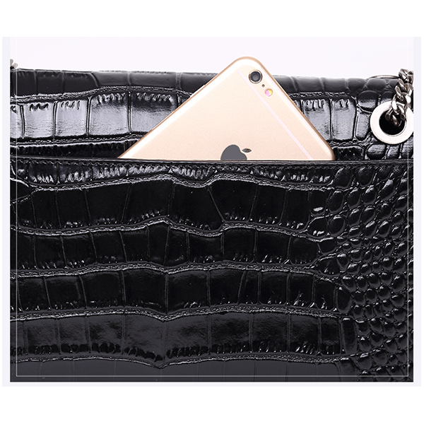 Windsor Embossed Crocodile Pattern Shoulder Bag