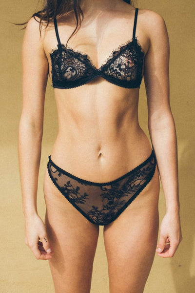 ALL THE FEELS: Darcy Bralette in Black - KATE FORD