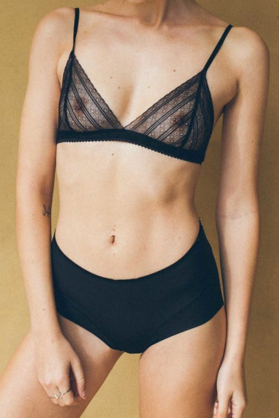 ALL THE FEELS: Matilda Bralette in Black - KATE FORD