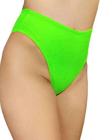 Essential High Rider Hot Pants in Neon Green