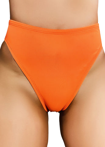 ALL THE FEELS: Essential High Rider Hot Pants in Toxic Orange - CLEO THE HURRICANE