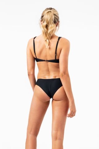 ALL THE FEELS: Alana Bottoms in Black - FRANKIES BIKINIS