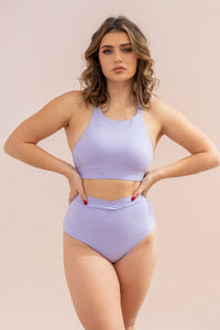 ALL THE FEELS: Aria Top in Lilac - LUNALAE LUNA POLEWEAR
