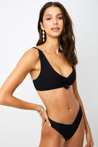 ALL THE FEELS: Austin Bikini Top Black - FRANKIES BIKINIS