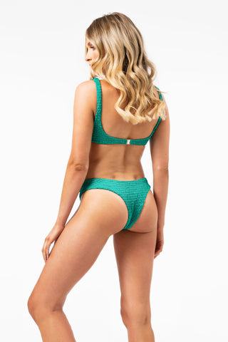 ALL THE FEELS: Azarah Bottom Green - LAHANA SWIM