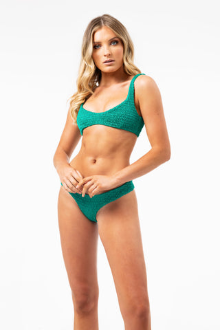 ALL THE FEELS: Azarha Top Green - LAHANA SWIM