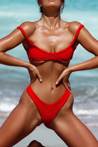 ALL THE FEELS: Azarah Top Red - LAHANA SWIM