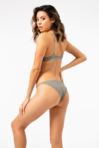 ALL THE FEELS: Shelby Briefs in Leopard Agave Green - LOVE STORIES