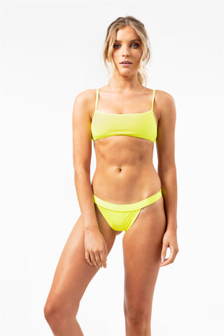ALL THE FEELS: Boots Top in Yellow - FRANKIES BIKINIS