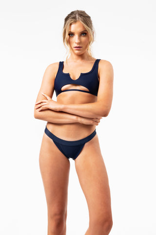 ALL THE FEELS: Cole Top in Navy - FRANKIES BIKINIS