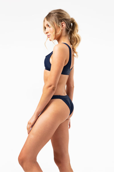 Cole Ribbed Bottoms in Navy