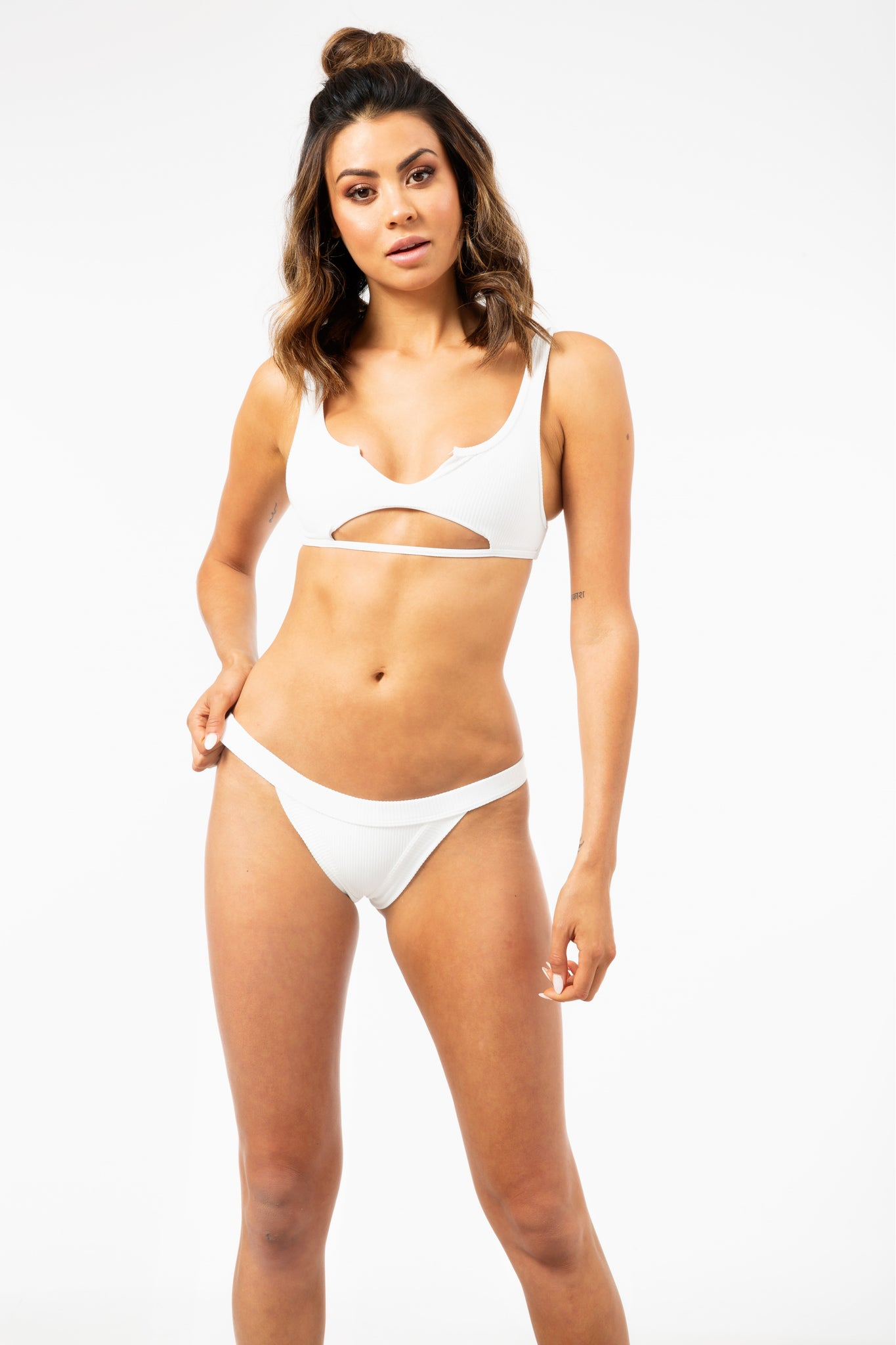 ALL THE FEELS: Cole Top in White - FRANKIES BIKINIS