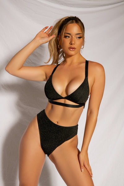 Cora High Waisted Bottoms in Black