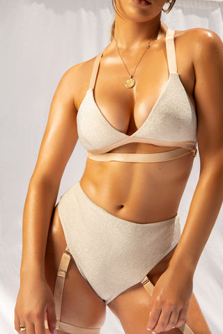 ALL THE FEELS: Cora Triangle Bra in Champagne - CREATURES OF XIX