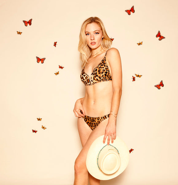 ALL THE FEELS: Paradise Bikini Bottoms in Leopard - EASTNWEST LABEL