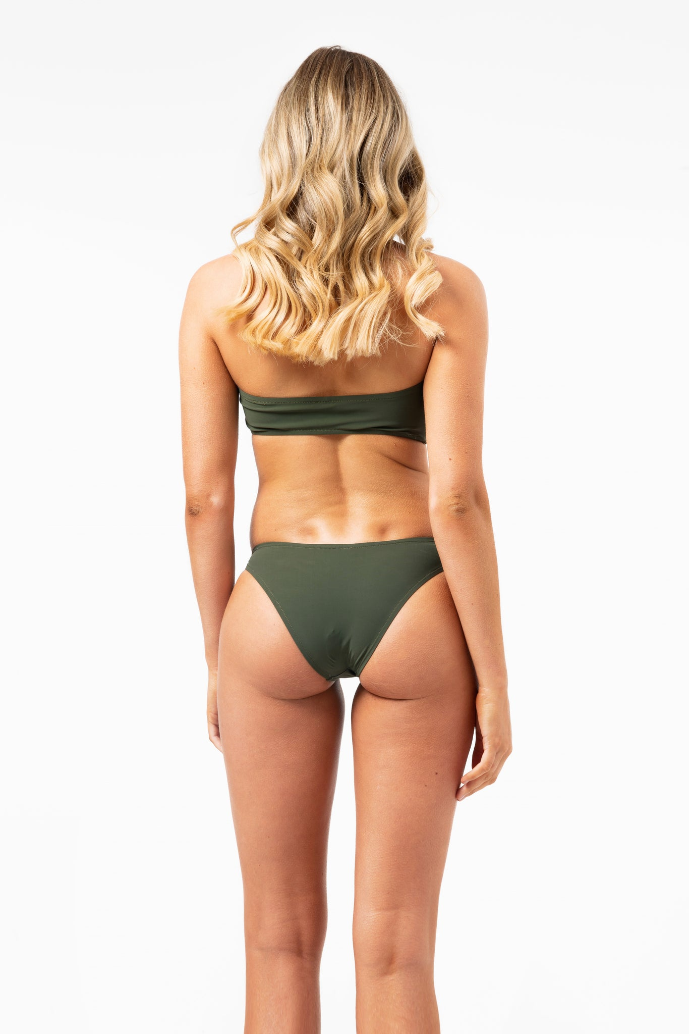 ALL THE FEELS: Skimp Bikini Bottoms in Khaki - GERRY CAN
