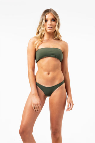 ALL THE FEELS: Elle Bandeau Top in Khaki - GERRY CAN