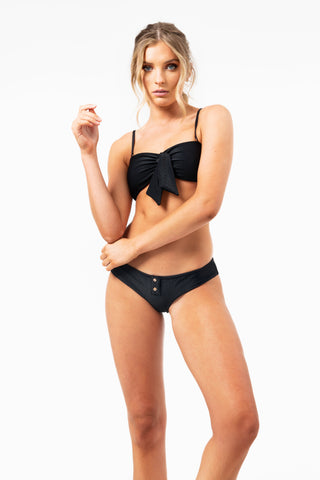 ALL THE FEELS: Enzo Top in Black - FRANKIES BIKINIS