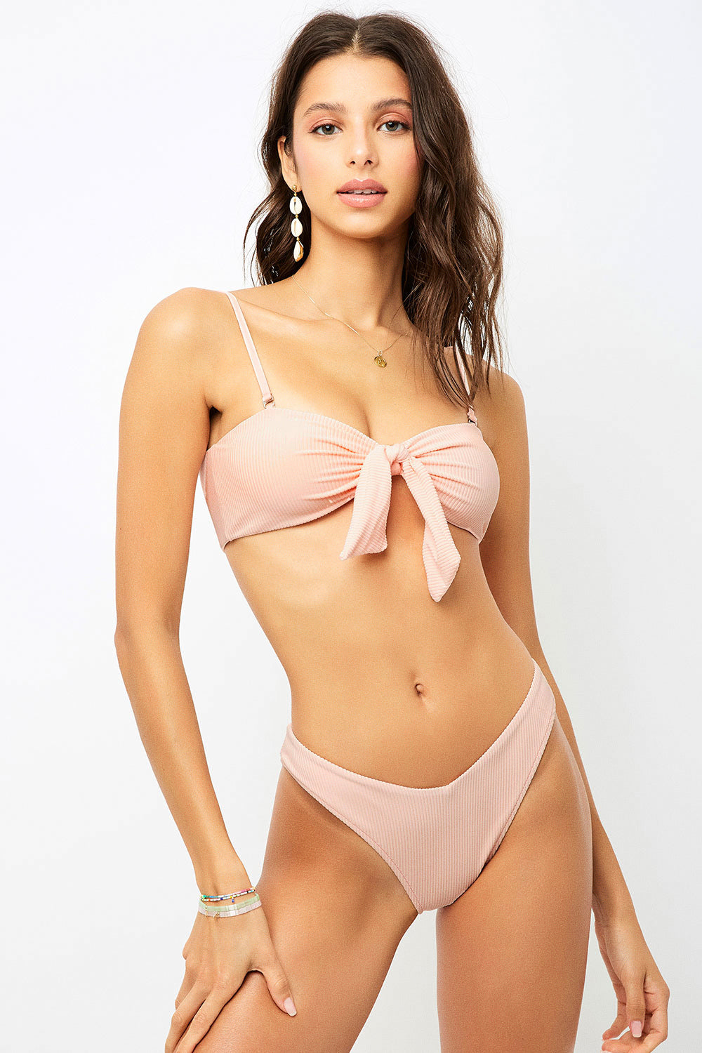 ALL THE FEELS: Enzo Bikini Peach - FRANKIES BIKINIS