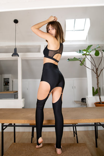 ALL THE FEELS: Floorplay Leggings Black - CHANTAY POLEWEAR