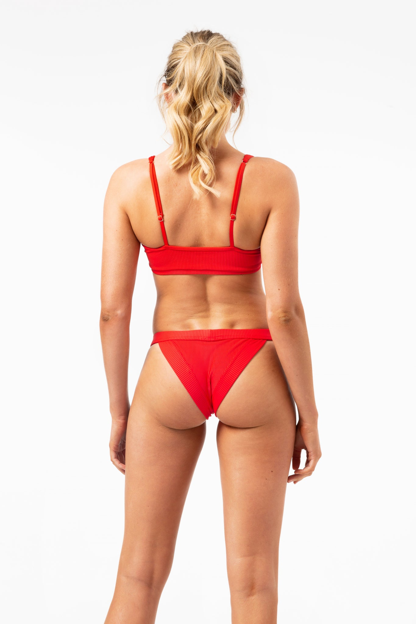ALL THE FEELS: Cole Bottoms in Red - FRANKIES BIKINIS