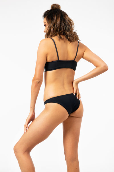 ALL THE FEELS: Hanalei Bottom in Black - FRANKIES BIKINIS