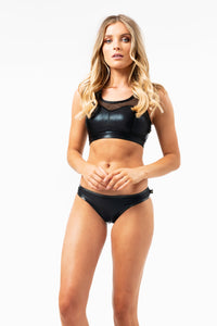 ALL THE FEELS: Heart Breaker Metallic Sports Bra - CLEO THE HURRICANE