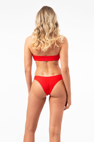 ALL THE FEELS: Hendrix Bottoms in Red - LAHANA SWIM