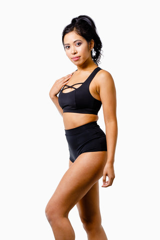 ALL THE FEELS: High Waist Basic Bottoms Black - LUNA POLEWEAR