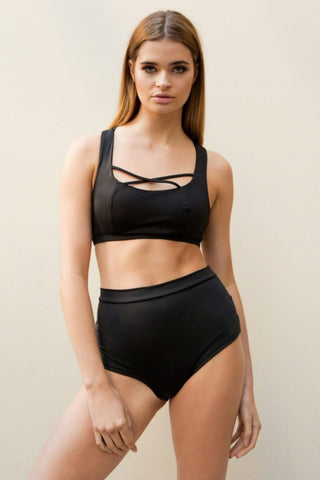 ALL THE FEELS: High Basic Bottoms in Black - LUNA POLEWEAR
