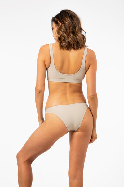 Isla Swim Top in Light Tan