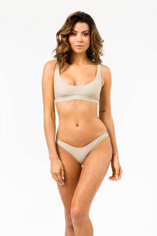 ALL THE FEELS: Isla Swim Top in Light Tan - GERRY CAN