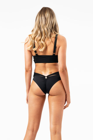 ALL THE FEELS: Ivy Bottom in Black - LUNA POLE WEAR