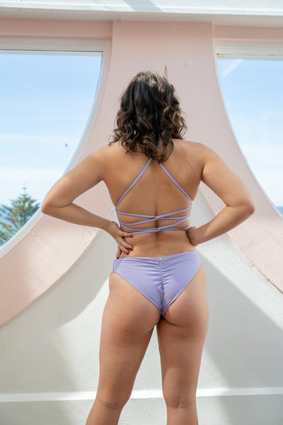 ALL THE FEELS: Basic Low Waist Bottoms in Lilac - LUNALAE LUNA POLEWEAR