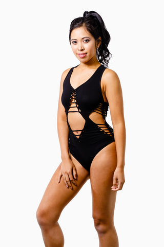 ALL THE FEELS: Killer Queen Bodysuit Black - TWISTED MOVEMENT