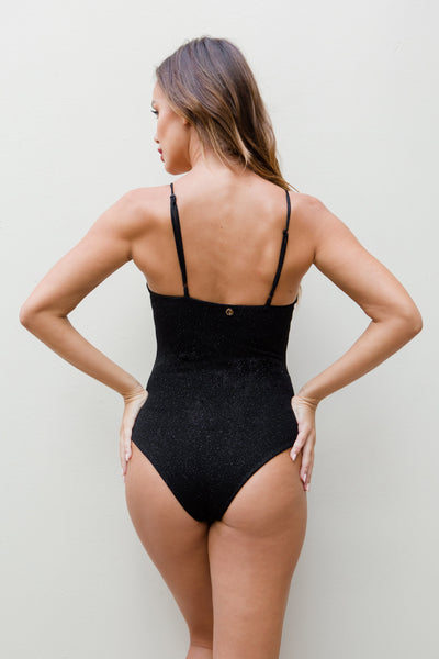 ALL THE FEELS: Stardust Bodysuit in Black - LUNA POLE WEAR
