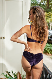 ALL THE FEELS: Lana Low Waisted Bottoms in Plum - LUNA POLEWEAR LUNALAE