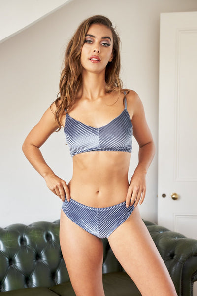 ALL THE FEELS: Lana Low Waisted Bottoms in Silver Blue - LUNA POLEWEAR LUNALAE
