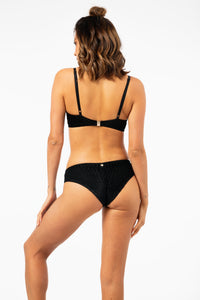 ALL THE FEELS: Lana Velvet Bottoms in Black - LUNA POLEWEAR