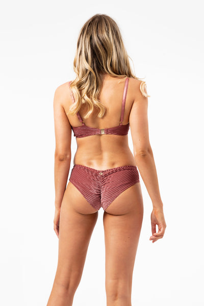 ALL THE FEELS: Lana Velvet Bottoms in Blush - LUNA POLEWEAR