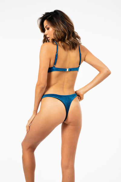 ALL THE FEELS: Livinia Bottom in Luxe Navy - VDM THE LABEL