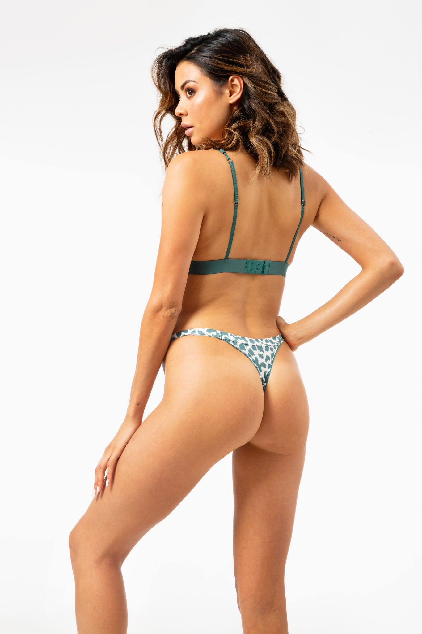 ALL THE FEELS: Roomservice Briefs in Leopard Mallard Green - LOVE STORIES