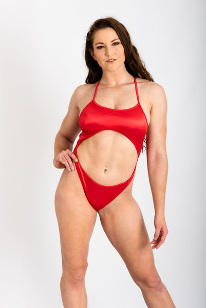 ALL THE FEELS: Lux Bodysuit in Red - ADAML