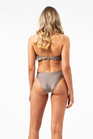 ALL THE FEELS: She Shimmers Bikini Bottom in Mushroom - L'URV