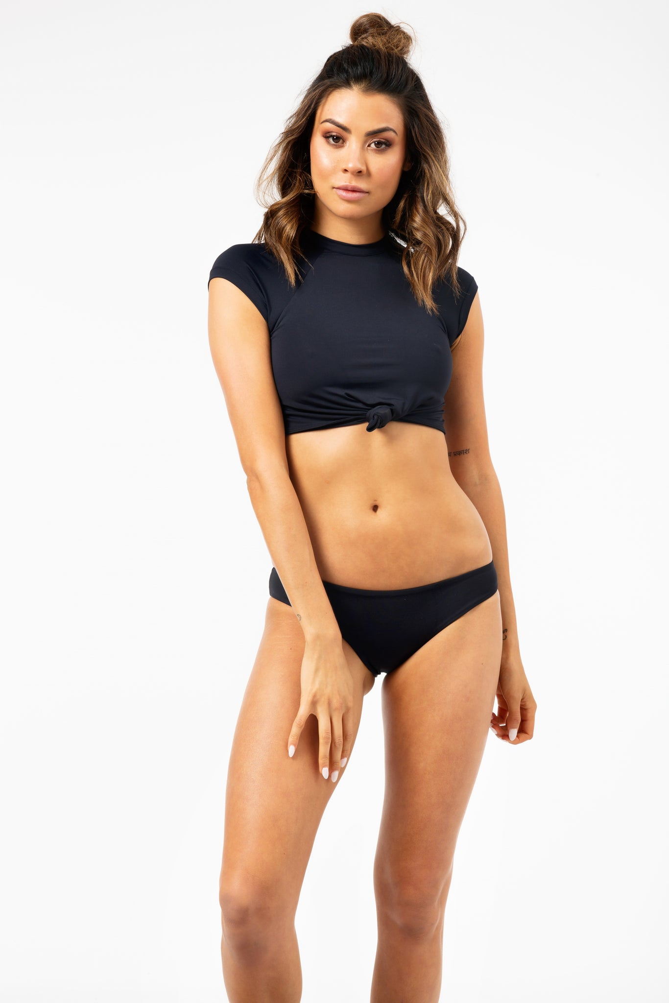 ALL THE FEELS: Max Top in Black - FRANKIES BIKINIS