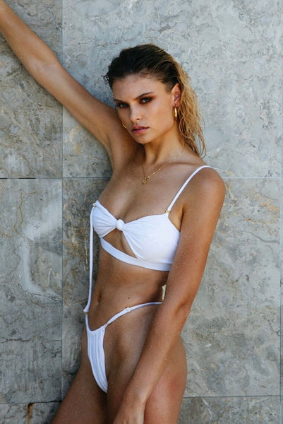 ALL THE FEELS: Mayla Bikini White - LAHANA SWIM