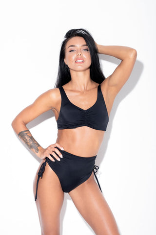 ALL THE FEELS: Moana Top in Black Eco - RAD POLEWEAR