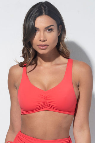 ALL THE FEELS: Moana Top in Coral Eco - RAD POLEWEAR