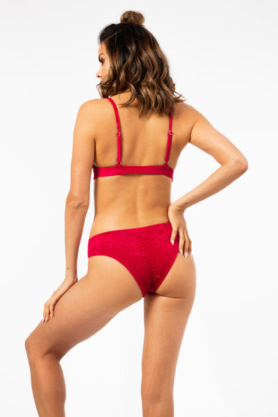 ALL THE FEELS: Monica Velvet Top in Red - RAD POLEWEAR